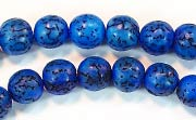 Round, 8mm, Salwag, Lapis Blue beads, DYED  SEED & NUT BEADS