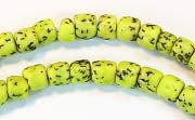 Pucalet, 6x5mm, Salwag, Lime Green beads, DYED  SEED & NUT BEADS