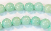 Round, 8mm, Buri, Baby Blue beads, DYED  SEED & NUT BEADS