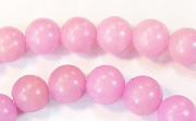 Round, 8mm, Buri, Lilac beads, DYED  SEED & NUT BEADS