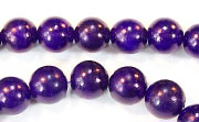 Round, 8mm, Buri, Royal Purple beads, DYED  SEED & NUT BEADS