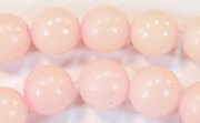Round, 10mm, Buri, Baby Pink beads, DYED  SEED & NUT BEADS