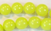 Round, 10mm, Buri, Lime Green beads, DYED  SEED & NUT BEADS