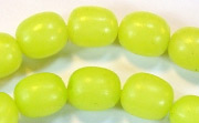 Oval, 10x12mm, Buri, Lime Green beads, DYED  SEED & NUT BEADS