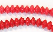 Saucer, 8x4mm, Buri, Blood Red beads, DYED  SEED & NUT BEADS