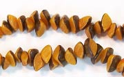 Nuggets, 7x4mm, Buri, With Skin, Orange Peel beads, DYED  SEED & NUT BEADS