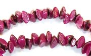 Nuggets, 7x4mm, Buri, With Skin, Royal Fuchsia beads, DYED  SEED & NUT BEADS