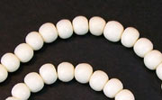 Round, 4/5mm, Wood, White beads, DYED WOODEN BEADS