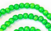 Round, 4/5mm, Wood, Kelly Green beads, DYED WOODEN BEADS