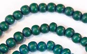 Round, 4/5mm, Wood, Forest Green beads, DYED WOODEN BEADS