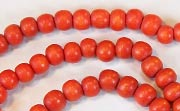 Round, 4/5mm, Wood, Tomato Red beads, DYED WOODEN BEADS