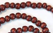 Round, 4/5mm, Wood, Chocolate Brown beads, DYED WOODEN BEADS