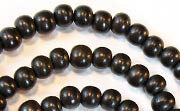 Round, 6mm, Wood, Black beads, DYED WOODEN BEADS