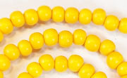 Round, 6mm, Wood, Golden Yellow beads, DYED WOODEN BEADS