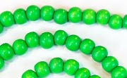 Round, 6mm, Wood, Kelly Green beads, DYED WOODEN BEADS