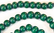 Round, 6mm, Wood, Forest Green beads, DYED WOODEN BEADS
