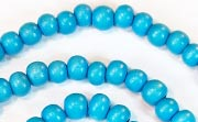 Round, 6mm, Wood, Sky Blue beads, DYED WOODEN BEADS