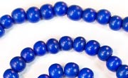 Round, 6mm, Wood, Royal Blue beads, DYED WOODEN BEADS