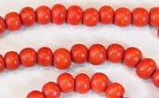Round, 6mm, Wood, Tomato Red beads, DYED WOODEN BEADS