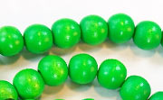 Round, 8mm, Wood, Kelly Green beads, DYED WOODEN BEADS