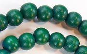 Round, 8mm, Wood, Forest Green beads, DYED WOODEN BEADS