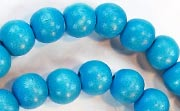 Round, 8mm, Wood, Sky Blue beads, DYED WOODEN BEADS