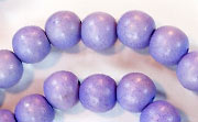 Round, 8mm, Wood, Lavender beads, DYED WOODEN BEADS