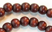 Round, 8mm, Wood, Chocolate Brown beads, DYED WOODEN BEADS