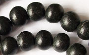 Round, 10mm, Wood, Black beads, DYED WOODEN BEADS