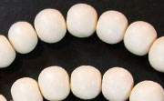 Round, 10mm, Wood, White beads, DYED WOODEN BEADS