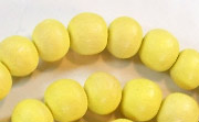 Round, 10mm, Wood, Lemon Yellow beads, DYED WOODEN BEADS