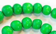 Round, 10mm, Wood, Kelly Green beads, DYED WOODEN BEADS