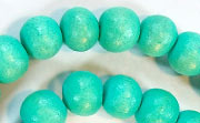 Round, 10mm, Wood, Turquoise beads, DYED WOODEN BEADS