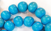Round, 10mm, Wood, Sky Blue beads, DYED WOODEN BEADS