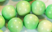 Round, 12mm, Wood, Lime Green beads, DYED WOODEN BEADS