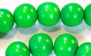 Round, 12mm, Wood, Kelly Green beads, DYED WOODEN BEADS