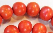 Round, 12mm, Wood, Tomato Red beads, DYED WOODEN BEADS