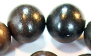Round, 20mm, Wood, Black beads, DYED WOODEN BEADS