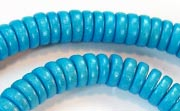Pucalet, 8x3.5mm, Wood, Sky Blue beads, DYED WOODEN BEADS