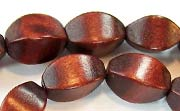 Balimbing, 10x15mm, Wood, Chocolate Brown beads, DYED WOODEN BEADS