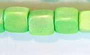 Dice, 10x10x10mm, Wood, Lime Green beads, DYED WOODEN BEADS