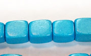Dice, 10x10x10mm, Wood, Sky Blue beads, DYED WOODEN BEADS