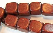 Dice, 10x10x10mm, Wood, Chocolate Brown beads, DYED WOODEN BEADS