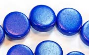 Flat Round, 5x15mm, Wood, Royal Blue beads, DYED WOODEN BEADS