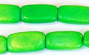 Flat Rect, 4x10x18.5mm, Wood, Kelly Green beads, DYED WOODEN BEADS