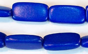 Flat Rect, 4x10x18.5mm, Wood, Royal Blue beads, DYED WOODEN BEADS