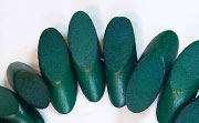 Slidecut, 4x19x7.5mm, Wood, Forest Green beads, DYED WOODEN BEADS