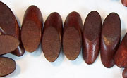 Slidecut, 4x19x7.5mm, Wood, Chocolate Brown beads, DYED WOODEN BEADS
