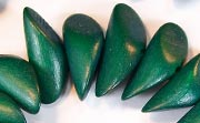 Twisted Chunk, 9x26x9mm, Wood, Forest Green beads, DYED WOODEN BEADS