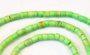 Heishi, 2/3mm, Coco, Lime Green beads, DYED COCONUT BEADS